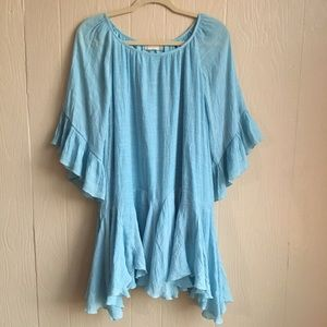 Altar'd State Flowing Ruffle Detail Tunic Top